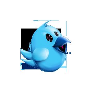 Twitter bird mascot by shizm