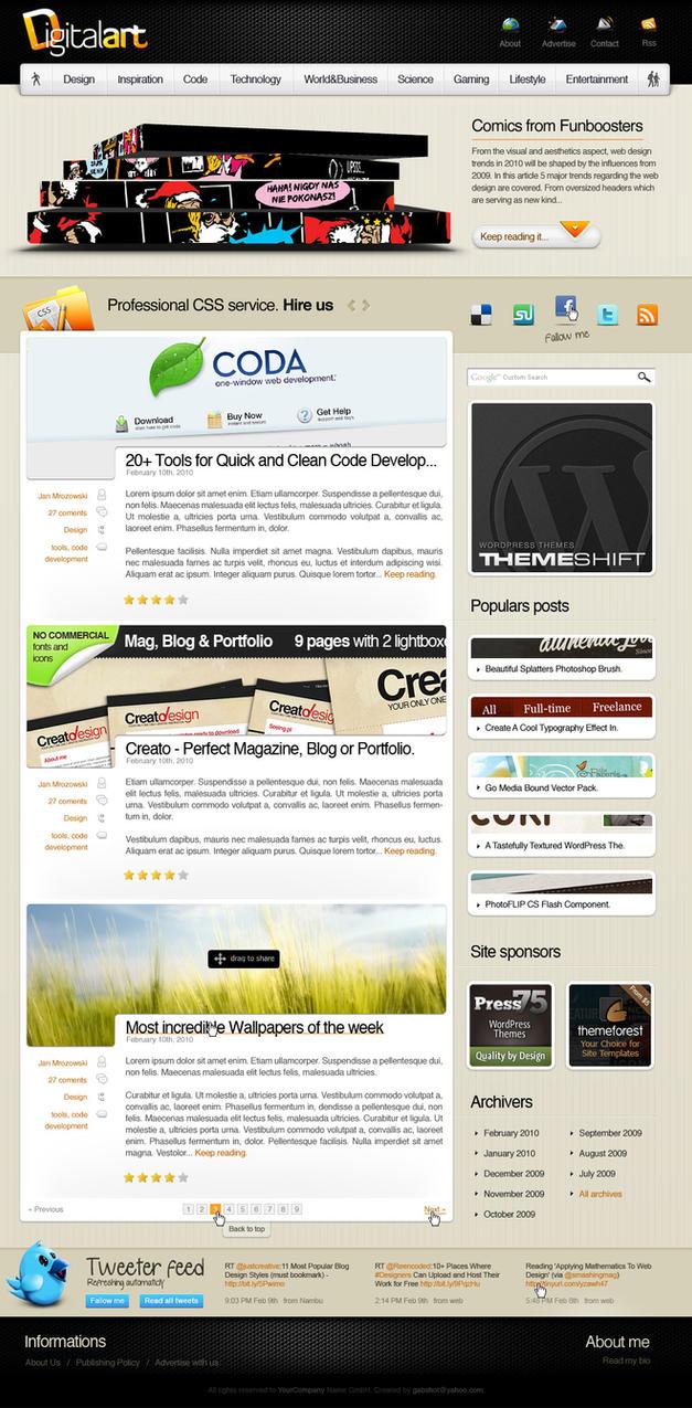 DigitalArt ThemeForest.net by shizm