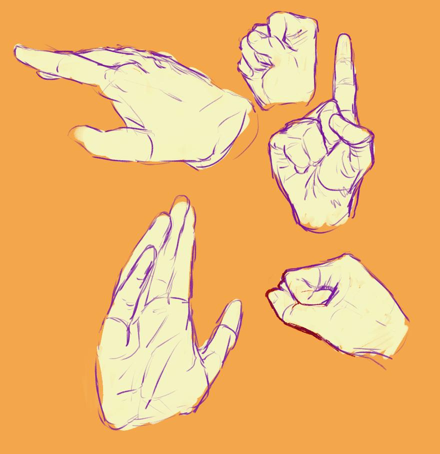 Studies of My Hand by MyelinSheath