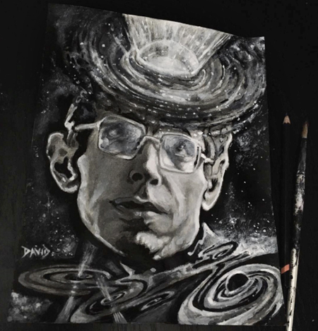 Blackholes. Stephen Hawking as a young man. by Tribalogy