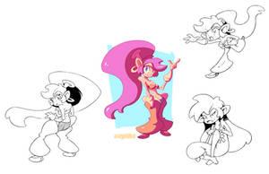 Half-Genie Hero: Shantae by cayiika