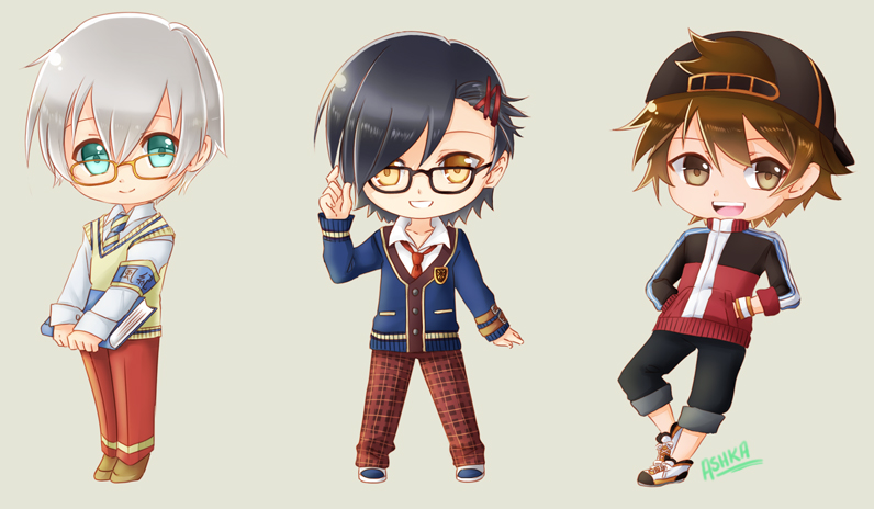 Chibi in School Uniforms by Ashka-chan