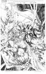 Wolverine Origin 36 line art