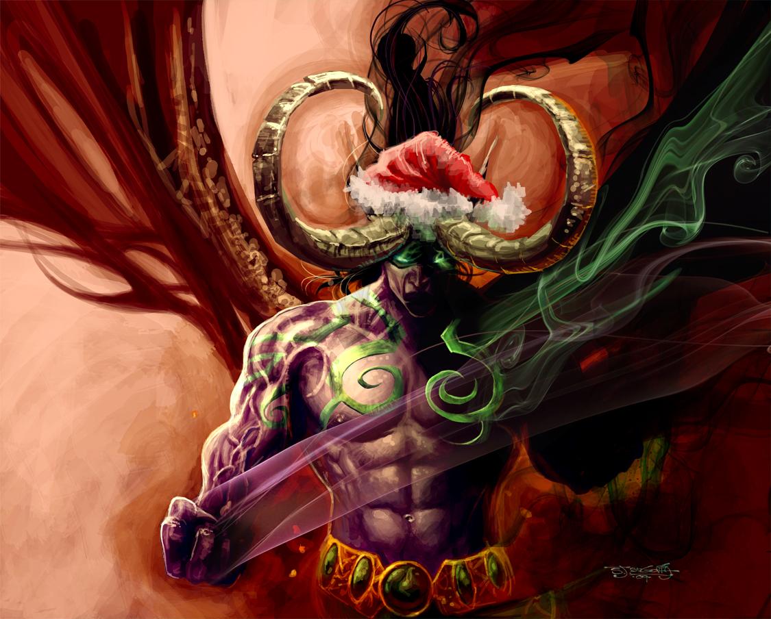 illidan likes christmas too - World Of Warcraft Christmas