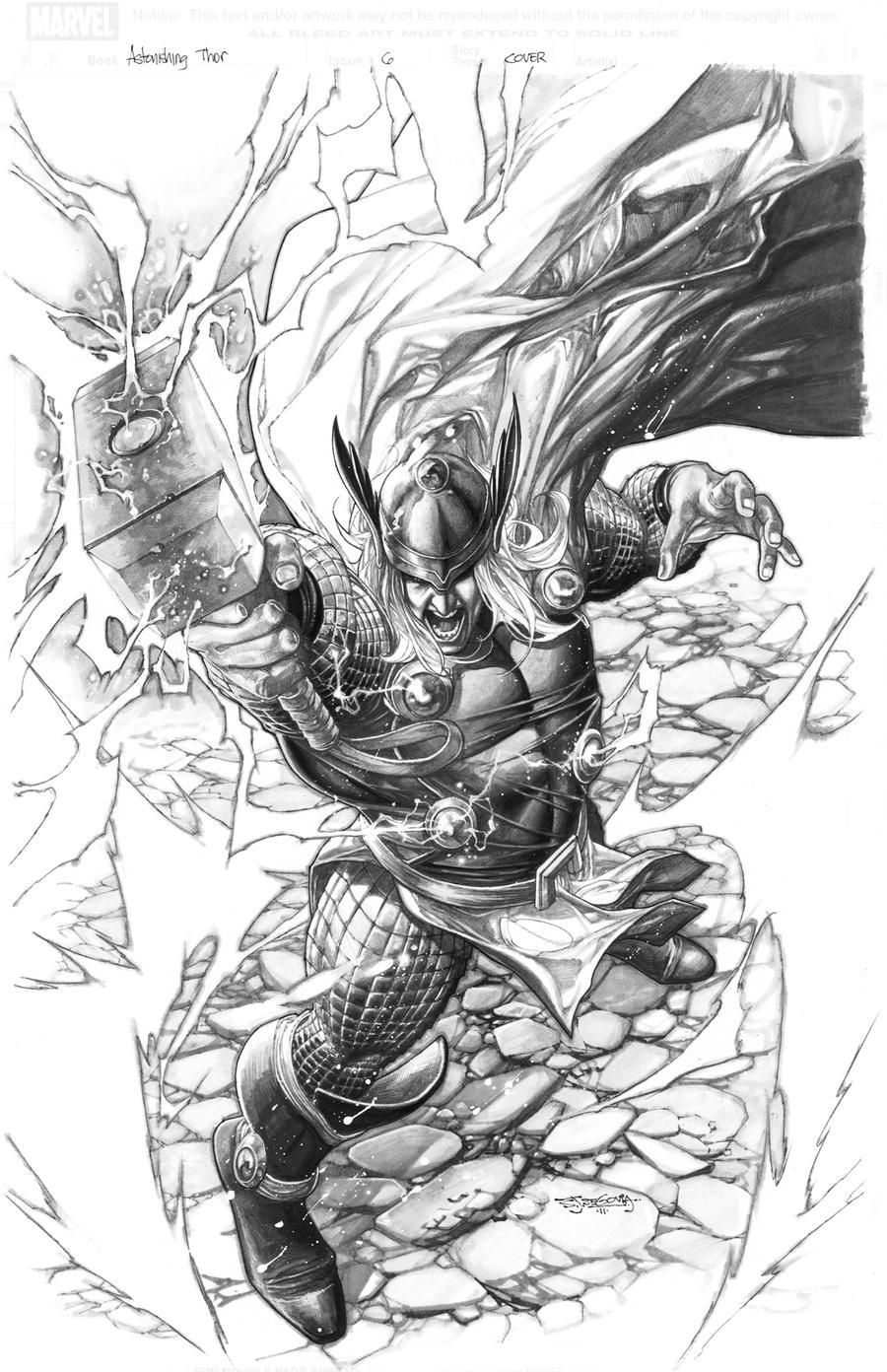 Thor deviant saga 1 cover by sjsegovia