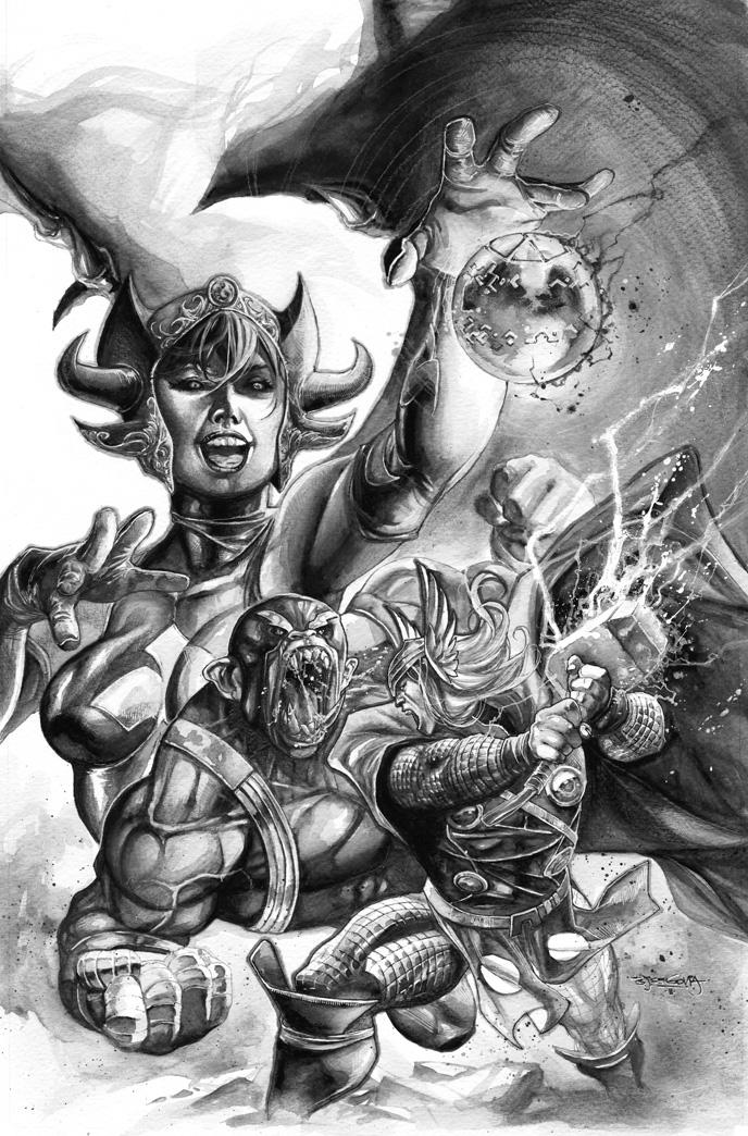 Thor Deviant Saga cover 3 by sjsegovia