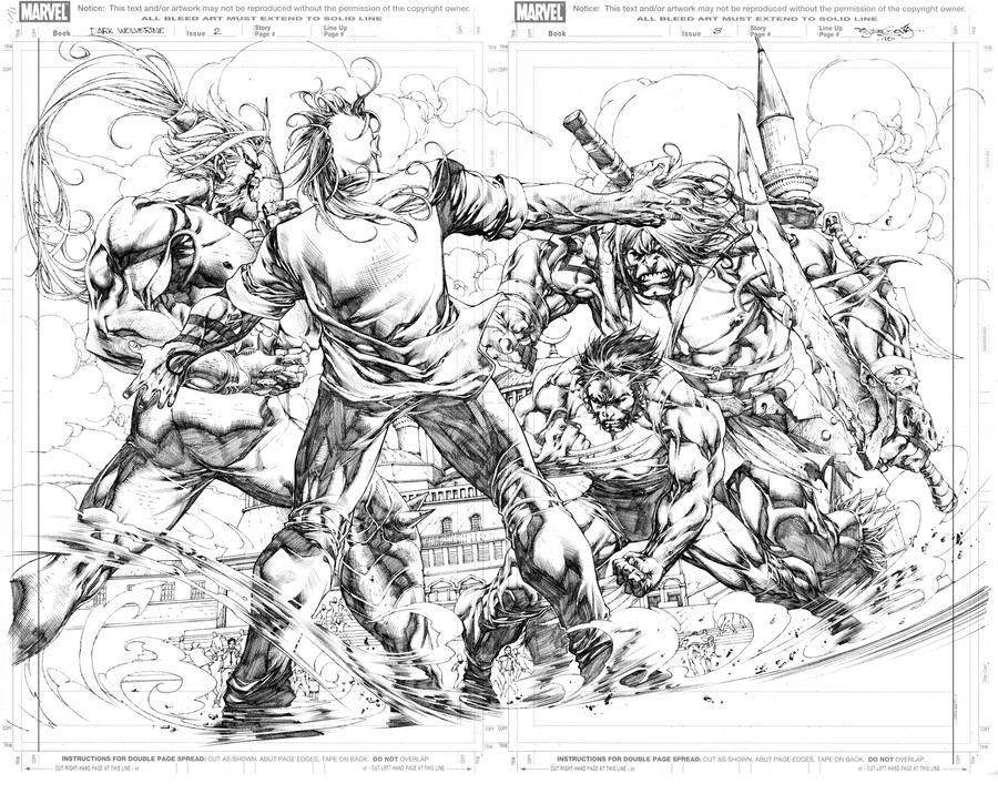 Dark Wolverine 86 pg2-3 by sjsegovia