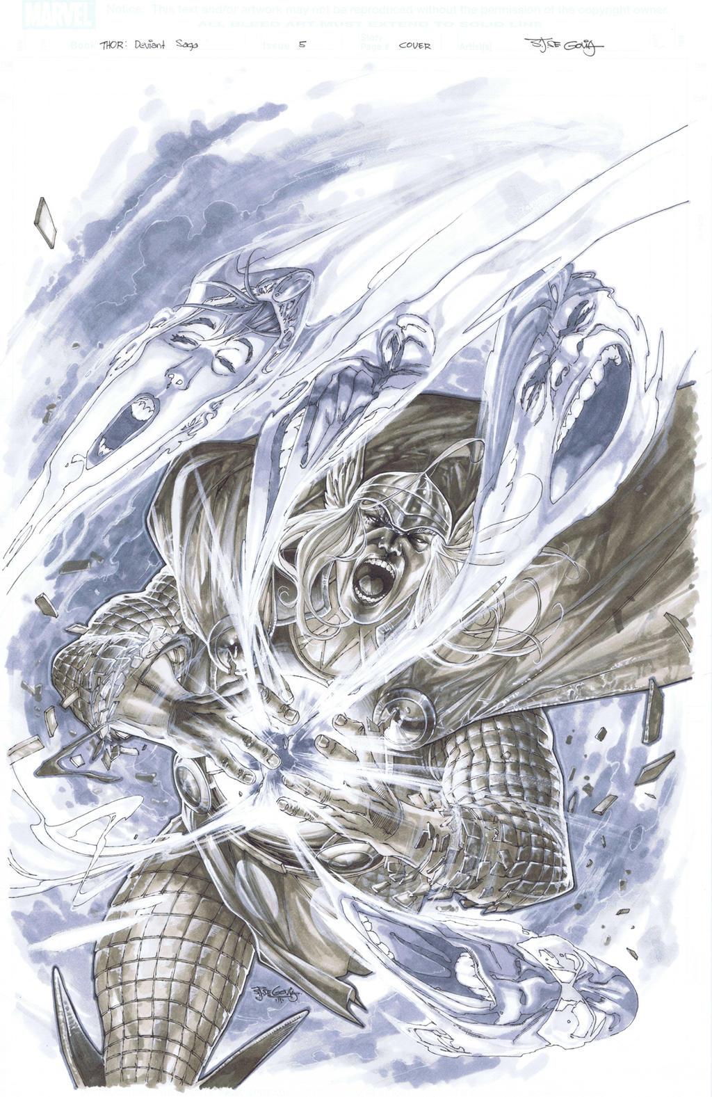 Thor Deviant Saga cover 5 by sjsegovia
