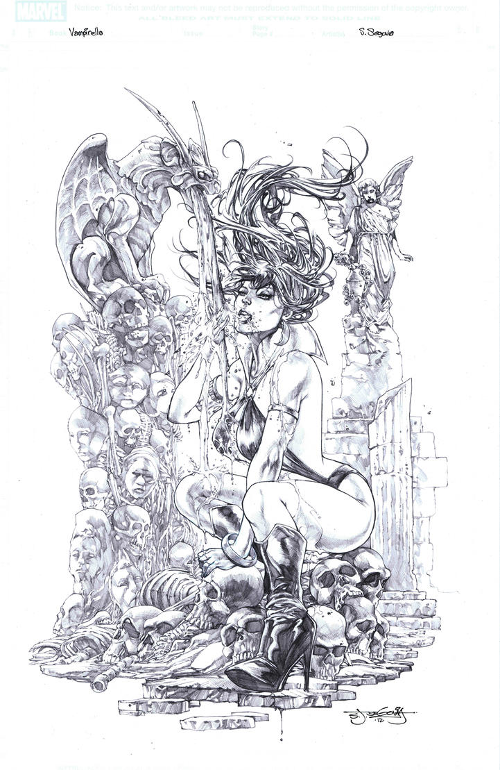 Vampirella commission by sjsegovia