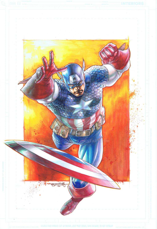 Captain America by sjsegovia