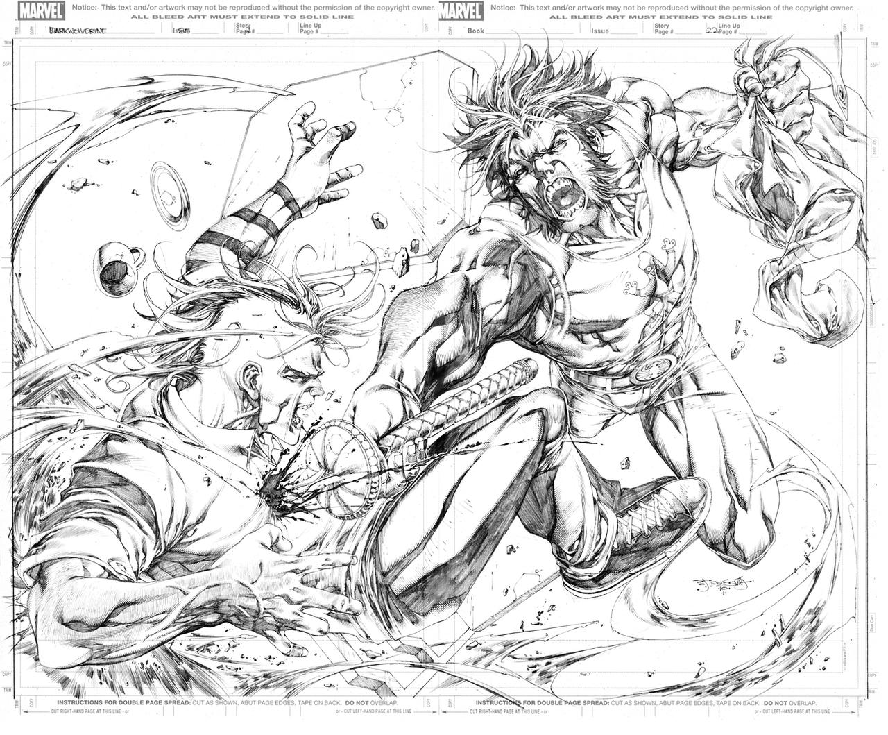 Dark Wolverine 85 pg21-22 by sjsegovia