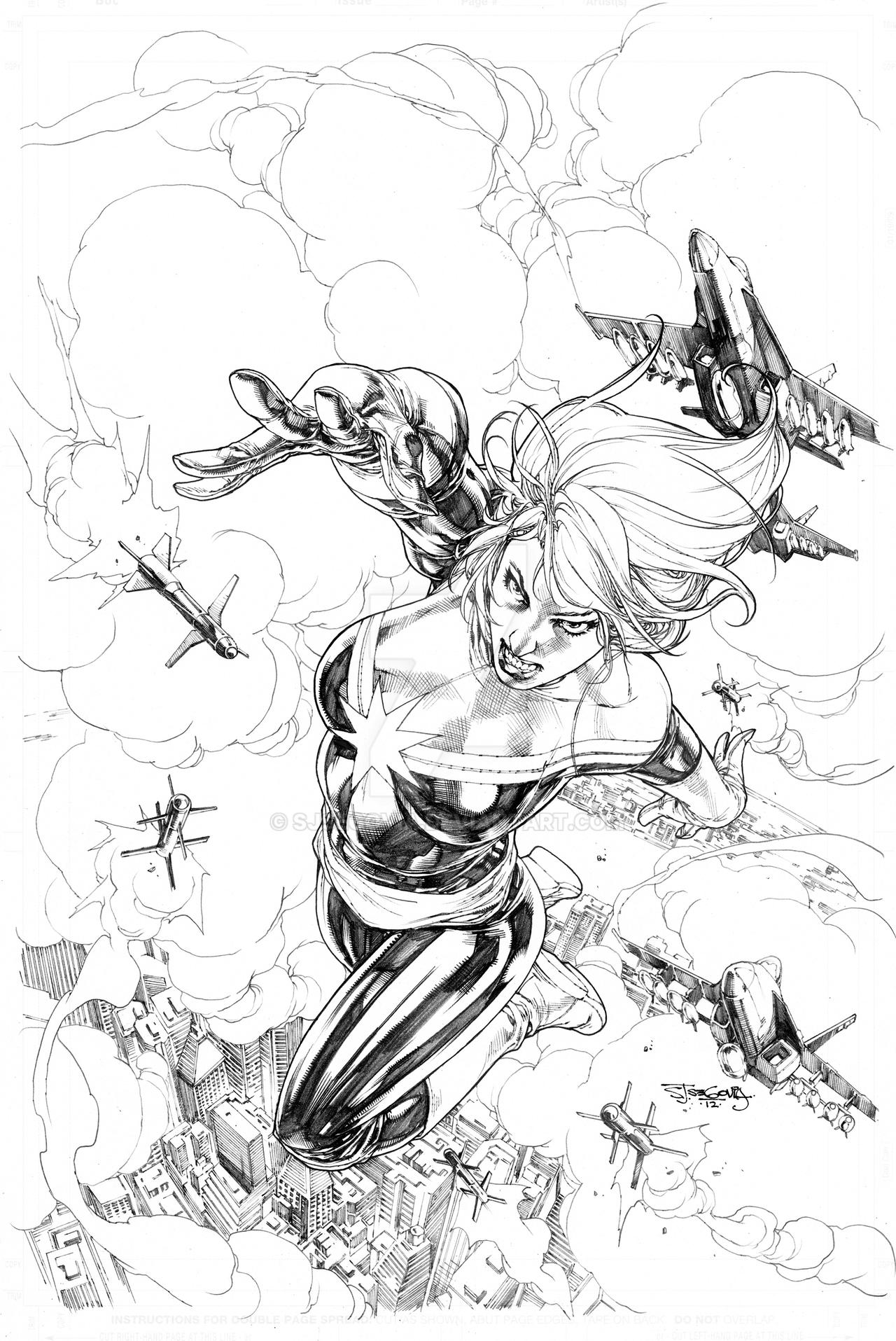 Capt Marvel sample cover by sjsegovia