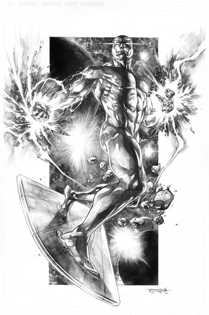 Silver Surfer commission by sjsegovia