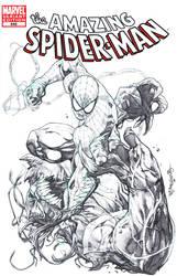 Spidey Vs Venom by sjsegovia