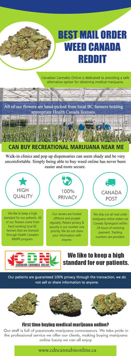 Best Mail Order Weed Canada Reddit by mailmarijuana on