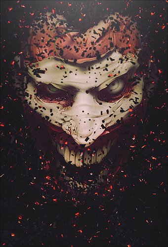 Creepy Joker Vertical by robbiebelike