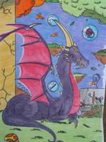 + Draco:o dragao de armadura + by ushirin