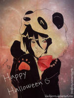 +-Happy halloween: magik panda-+ by ushirin