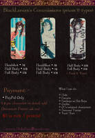 +BlackLenore - Commissions prices and exemples+ by ushirin