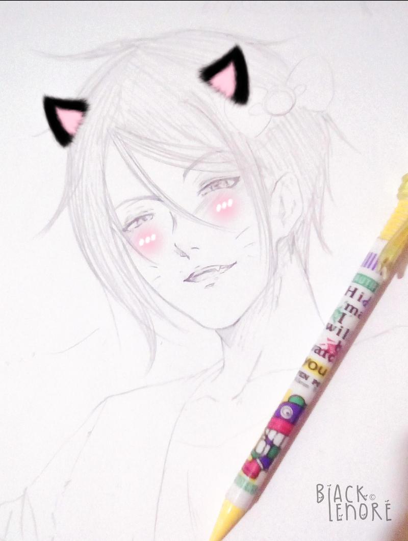 +-Sebby meow (doodle)-+ by ushirin