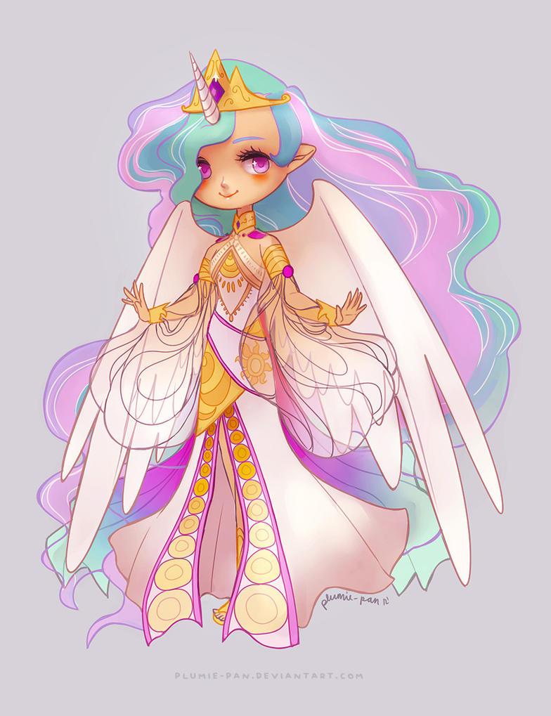 Princess Celestia by plumie-pan