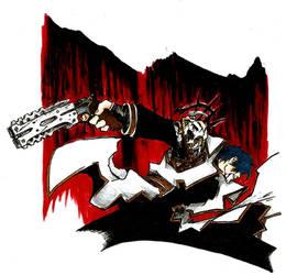 Legato Bluesummers - Trigun Maximum (with gun) by AlucardUndertaker