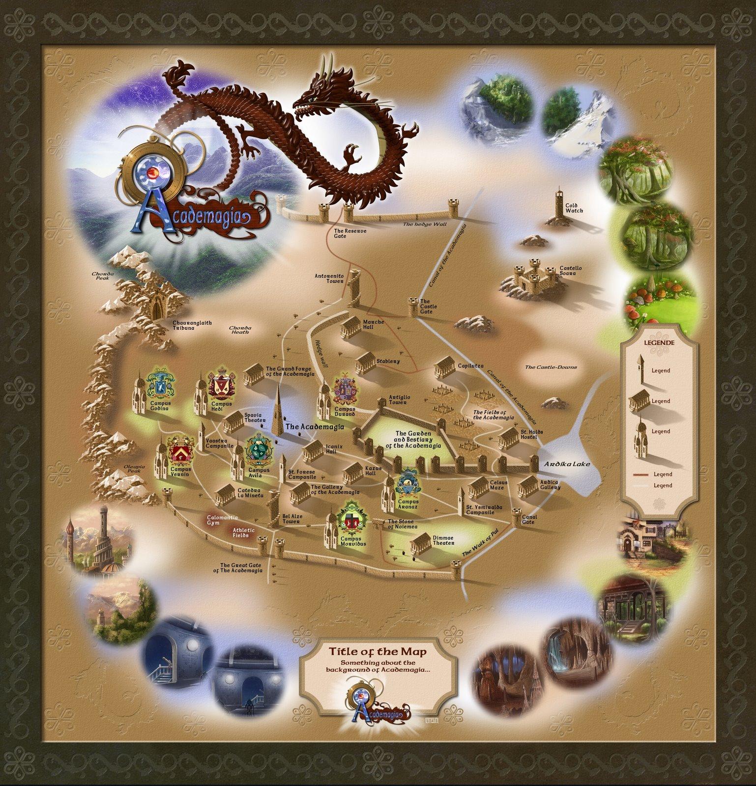 Academagia World Map