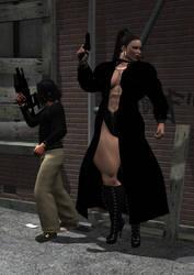 Gangsta in action by zgannero