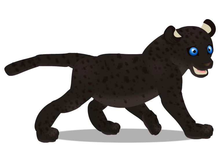 melanistic leopard cub by PurpleRat-YS