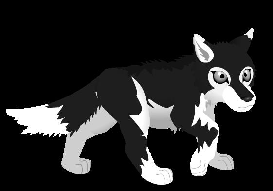 wolf pup b n w by PurpleRat-YS