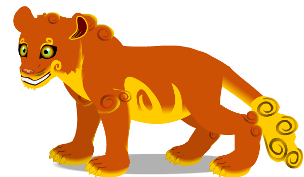 Chinese lion cub by PurpleRat-YS