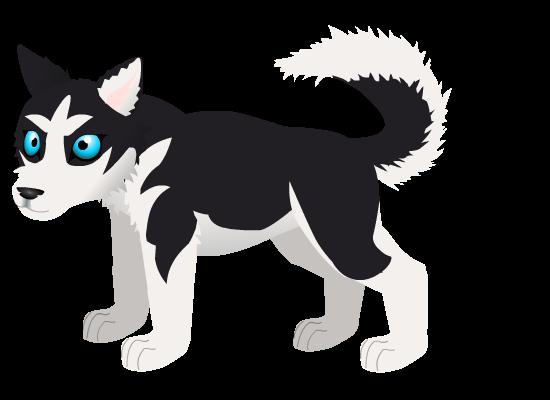 Husky pup A by PurpleRat-YS