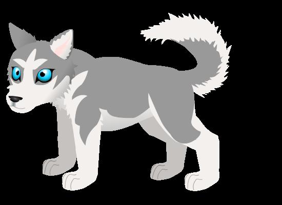 Husky pup E by PurpleRat-YS