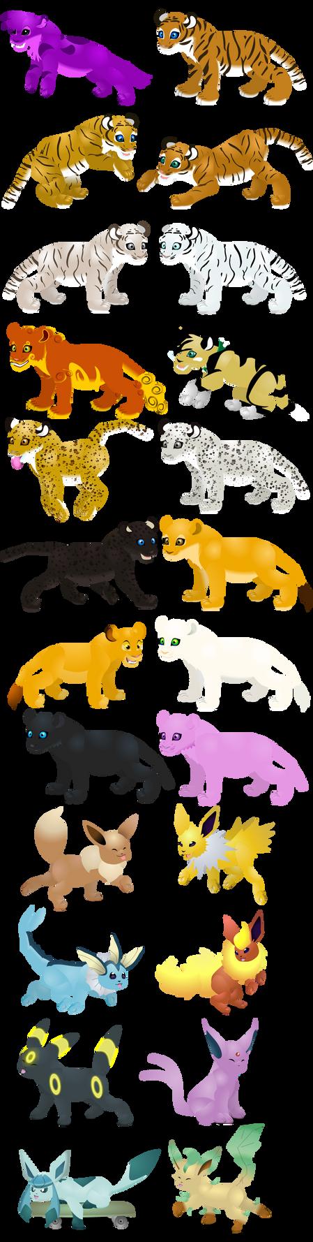 Cat cubs skins by PurpleRat-YS