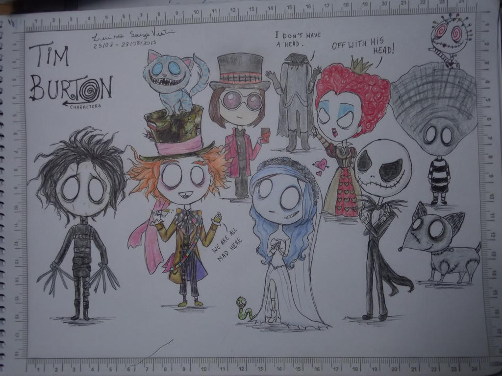Tim Burton Characters Fan Art by Luisinhasv on DeviantArt
