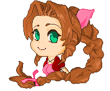 Aeris - pixel art by LadyTurbalina