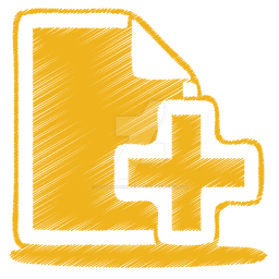 Yellow-document-plus-icon by m-vandenterghem-2018