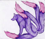 Five tailed wolf