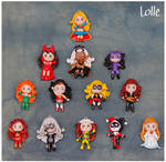 Fimo Marvel and DC Girls