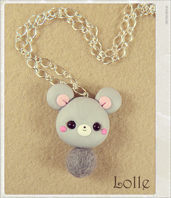 Clay Flurry Mouse by LolleBijoux