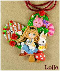 Alice in Wonderland Necklace by LolleBijoux