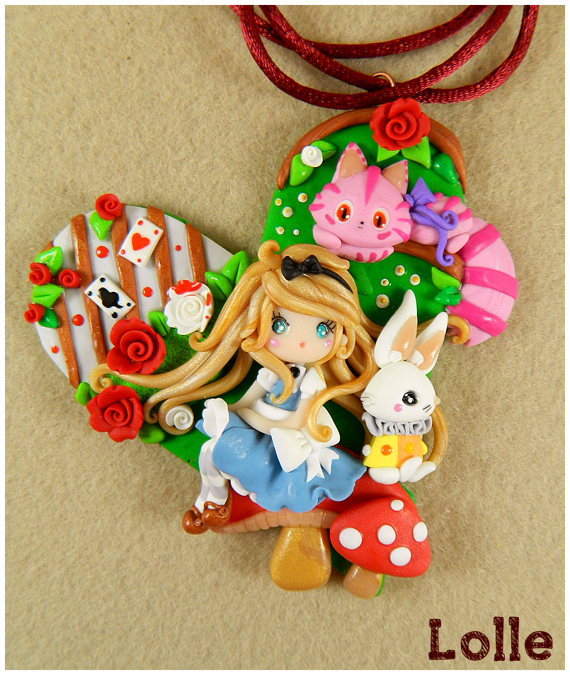 Alice in Wonderland Necklace by LolleBijoux