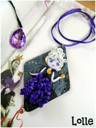 Villains Ursula FANART CLAY Necklace by LolleBijoux