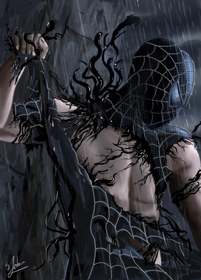 Spider Man Symbiote Suit Wallpaper