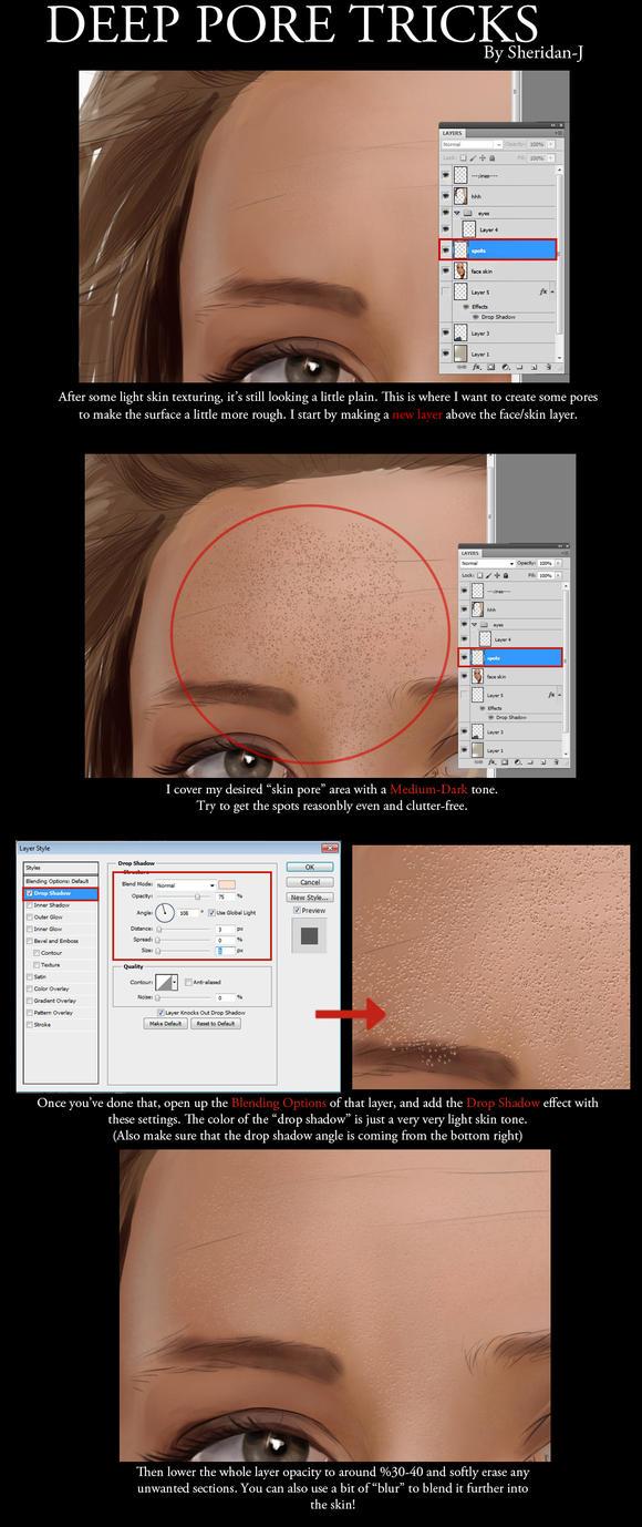 Advanced Skin Pores Tutorial by Sheridan-J