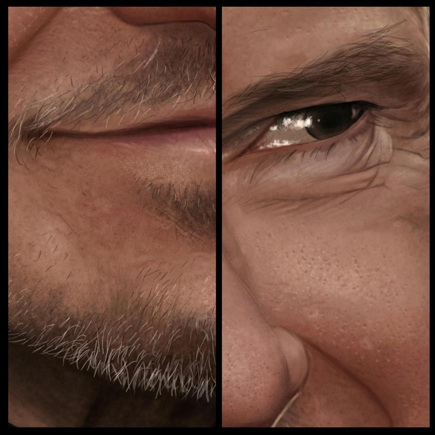 Harvey Keitel - Portrait Details by Sheridan-J