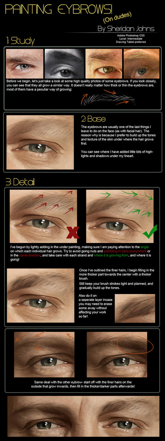 painting realistic eyebrows by sheridan j on deviantart