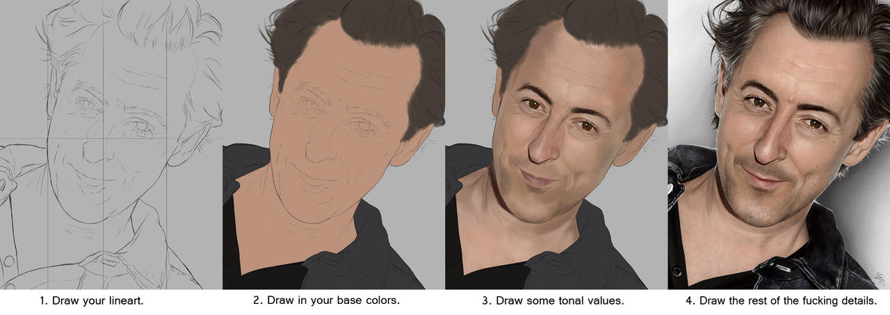 How to draw Alan Cumming. by Sheridan-J