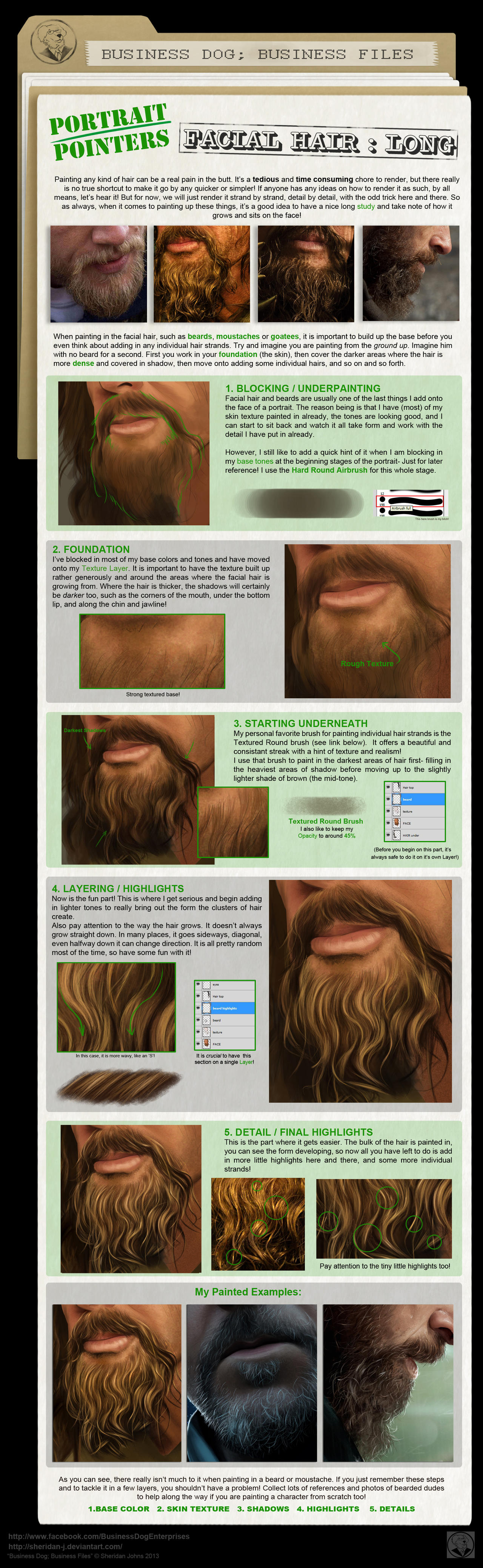 Painting Facial Hair- Long by Sheridan-J