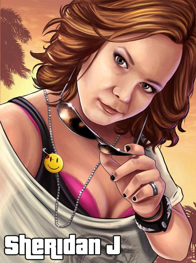 Sheridan J- GTA Self Portrait by Sheridan-J